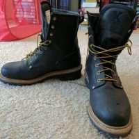 Image of Why do logger boots have high heels