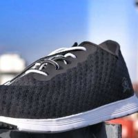 Image of how to clean mesh shoes